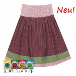 Berwin & Wolff - Rock mit Sattelbund in rosé mit chianti und grün cm