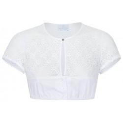 Hochgeschlossene Spitzen Dirndlbluse mit Shirtrücken von Waldorff