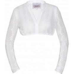 """Dirndlbluse """"Edisa-Linda"""" in off white aus Spitze mit Stehkragen und langem Arm - Marjo"""
