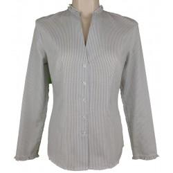 """Bluse """"Helma"""" in weiß mit grau - Hammerschmid"""