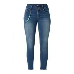 Jeans Tummyless 7/8 mid blue von Buena Vista