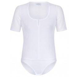 Body mit Spitze in weiß mit kurzem Arm - Waldorff