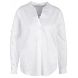 Bluse in weiß mit Stehkragen und Eingriffstaschen - Milano Italy