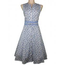 65 cm - Kleid mit Rosendruck und Bindegürtel - Berwin & Wolff