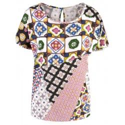 Blusen Shirt in Color Print - Milano Italy